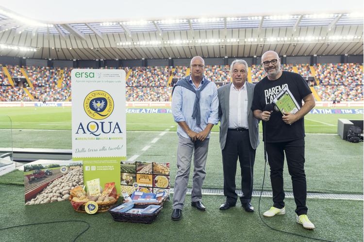 I prodotti del marchio AQUA allo Stadio Friuli