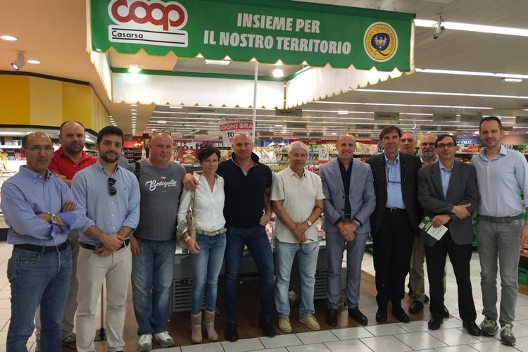 COOP Casarsa: inaugurato corner dei prodotti AQUA e del territorio